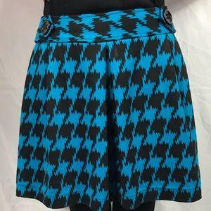 Express skirt women's size 8 blue black a line